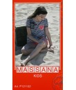 Pijama de niña Massana verano pantalón corto color gris con dibujo talla 18