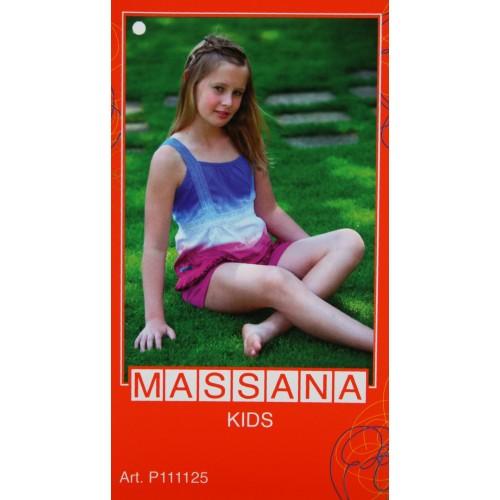 Pijama de niña Massana verano pantalón corto color azul talla 16