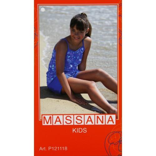 Pijama de niña Massana verano pantalón corto color azul intenso talla 12