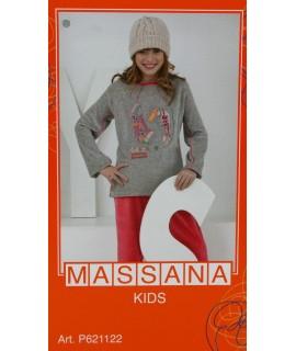 Pijama de niña Massana invierno pantalón largo color gris talla 10