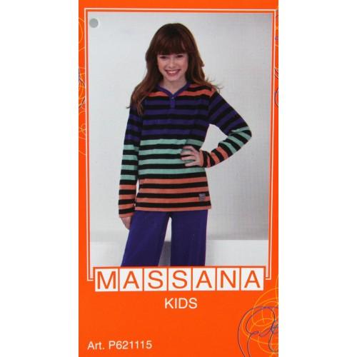 Pijama de niña Massana invierno pantalón largo color azul intenso talla 12