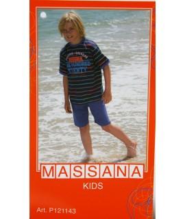 Pyjama d'été garçon Massana short bleu taille 14
