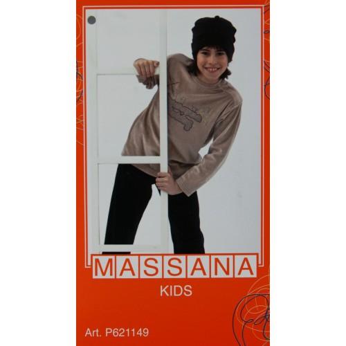 Pijama para niño Massana de invierno pantalón largo color gris talla 10