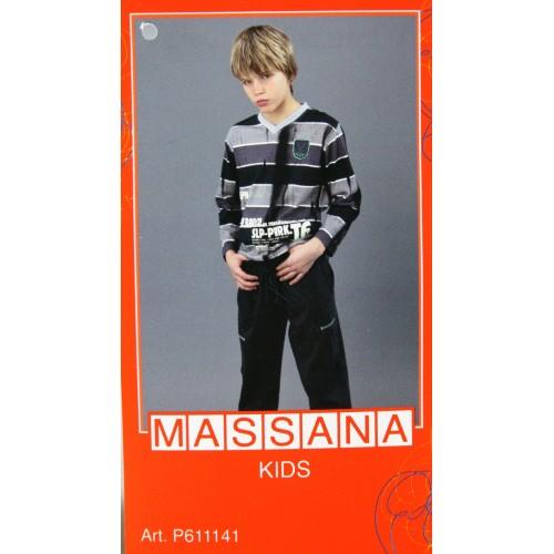 Pijama para niño Massana de invierno pantalón largo color gris con estampado talla 14