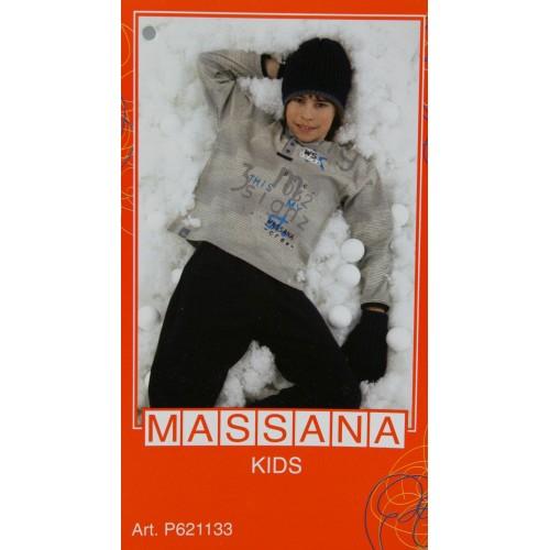Pijama para niño Massana de invierno pantalón largo color azul con estampado talla 14