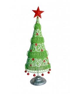 arbre de Noël en métal vert frais