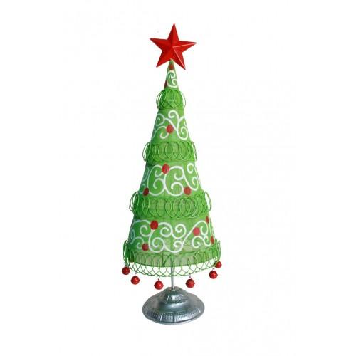 Árbol de Navidad de metal Fresh Green