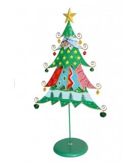 sapin de Noël en métal multicolore