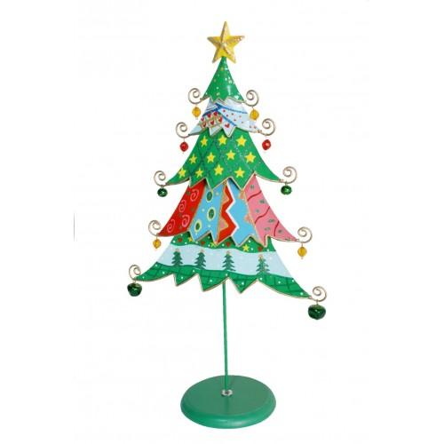 Árbol de Navidad de metal Abeto multicolor