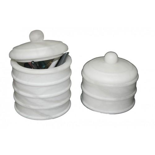 Botes de baño en alabastro