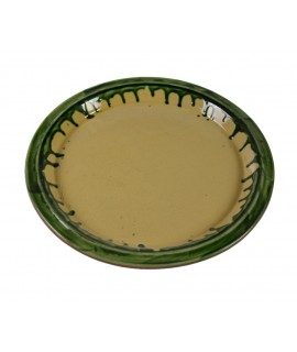 Safata d'argila rodona parament de taula. Mesures: 3xØ30 cm.