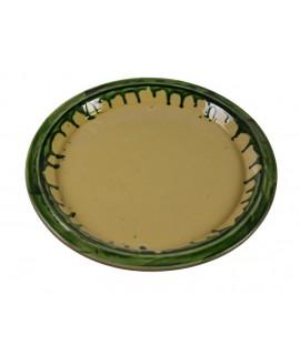 Vaisselle plateau rond en argile. Mesures: 3xØ30 cm.