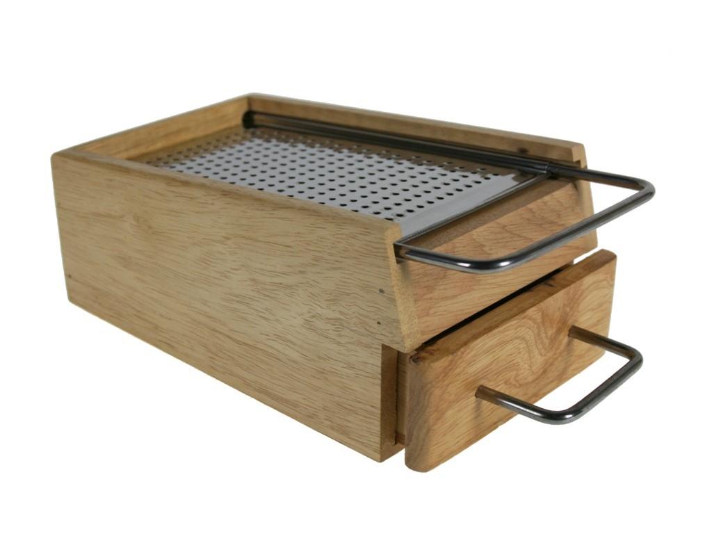 Rallador en caja de madera para menaje de cocina