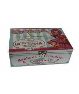 Caja de madera para dulces