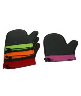Manopla guante de cocina de neopreno con ribete de color resistente al calor utensilio de cocina. Medidas: 26x17 cm