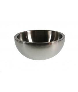 Ensaladera Bowl grande de acero inoxidable. Medidas: 11xØ24 cm.