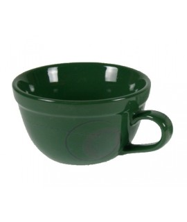 Taza Bowl de cerámica color verde menaje de mesa.
