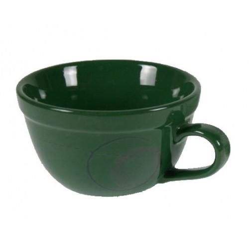 Ttaza cuenco de ceramica color verde para sopa, cereales, pastas, postre servicio de mesa y cocina
