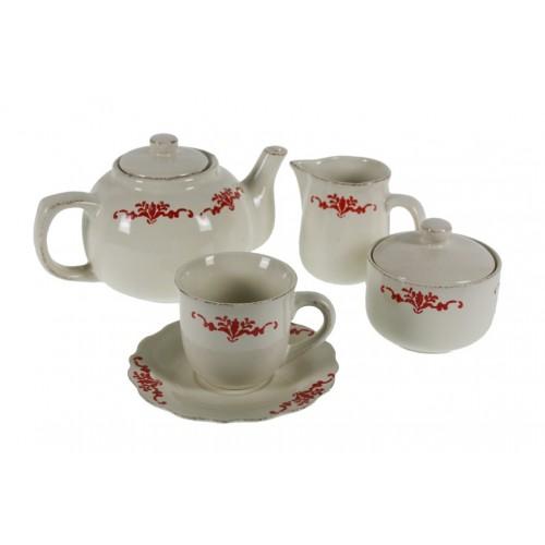 Juego de café y té de 15 piezas estilo rustico