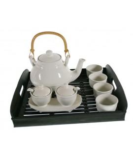 Juego de Té porcelana con bandeja menaje de cocina