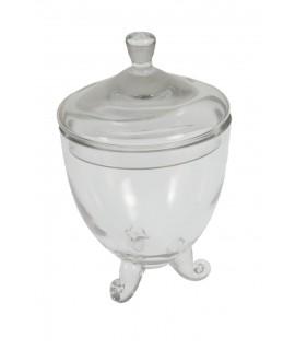 Bombonera de vidre forma de copa