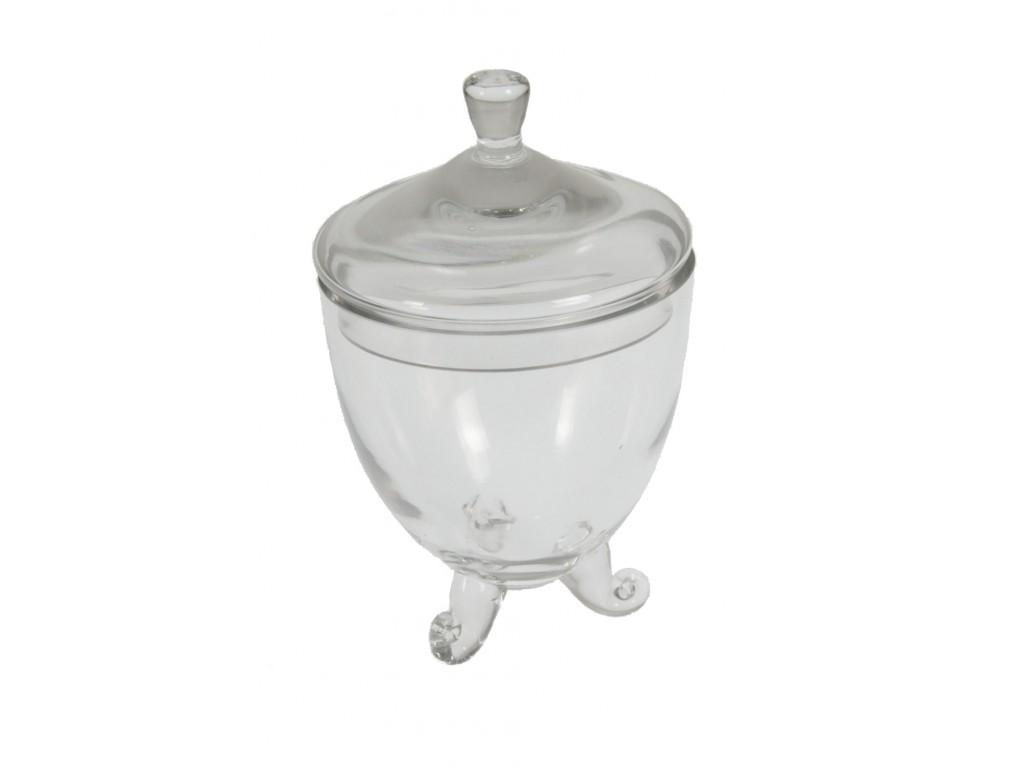 Bombonera de cristal forma de copa