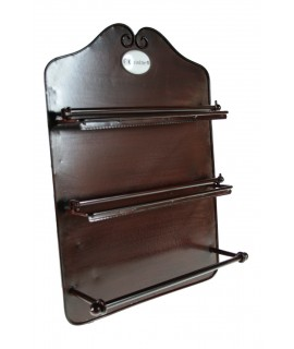 Portarrollos de metal Cocina-triple
