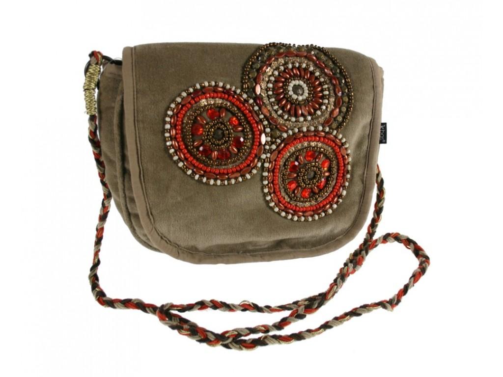 Bolso pequeño Bandolera con Pedrería color marrón
