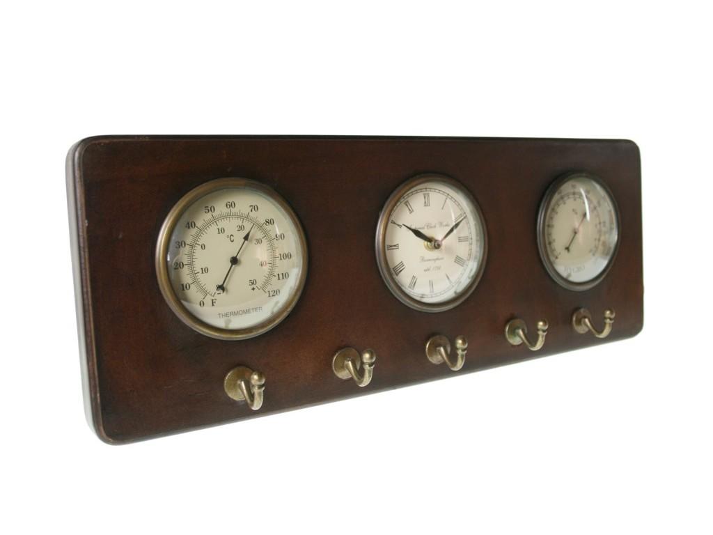 Reloj con termómetro e higrómetro