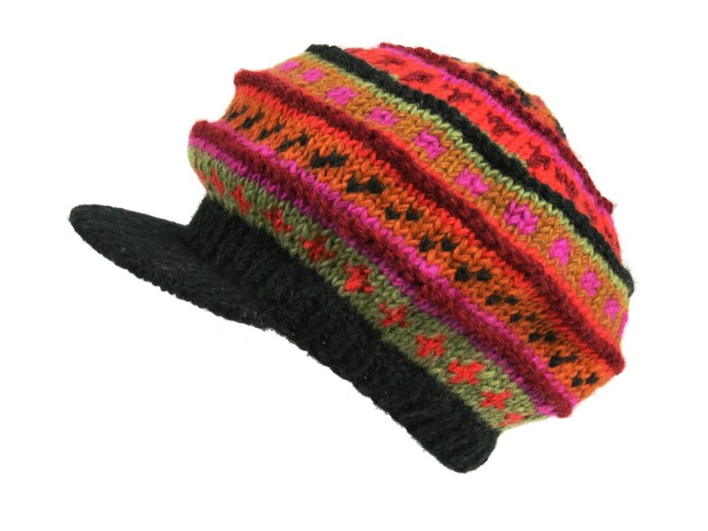 Gorro de Lana con Visera 100% lana Interior de forro polar artesanal 94bfbe6e585