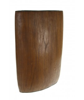 Vase en bois massif en une seule pièce.
