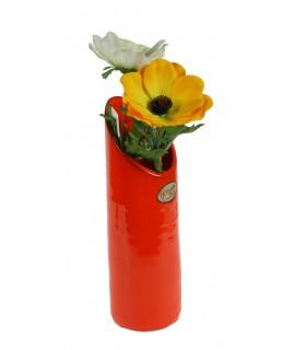Florero de cerámica color naranja