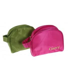 Neceser infantil bolsa de aseo color rosa compartimentos en el interior
