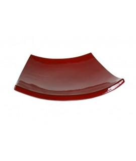Centre de taula en ceràmica artesanal color vermell