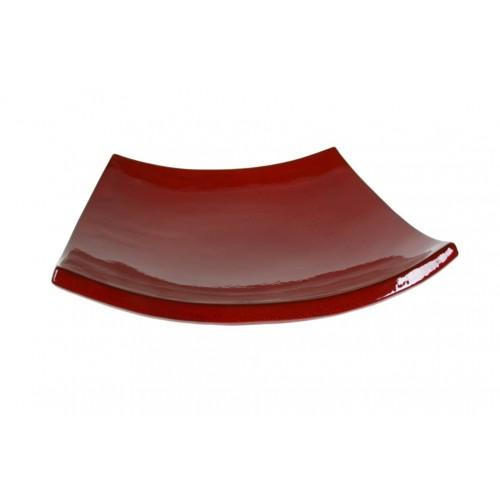 Centro de mesa en cerámica artesanal color rojo