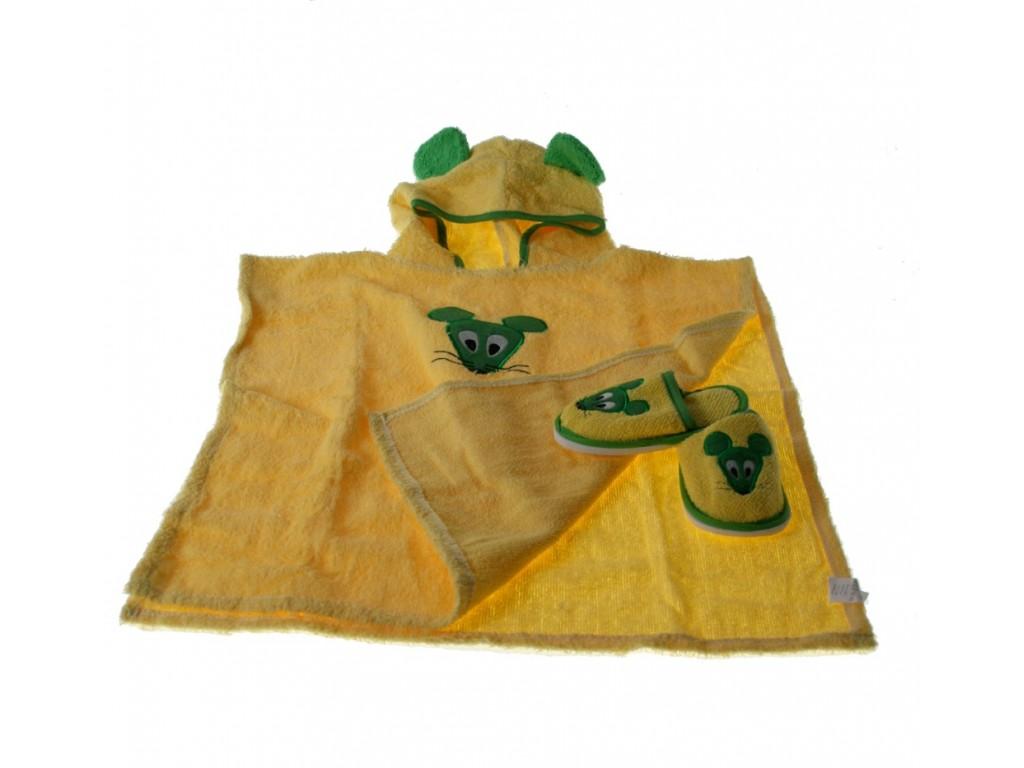 Capa con Capucha color Amarillo