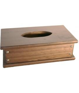 Caja de madera para pañuelos de papel estilo rustico