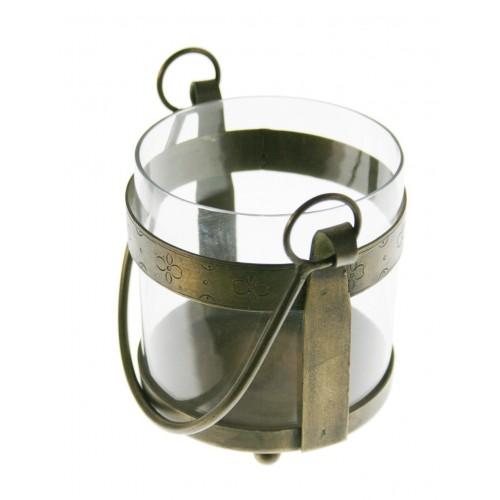 Portaespelmes de vidre i metall