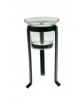 Porta velas pequeño forma de copa. Medidas: 17x8x8 cm.