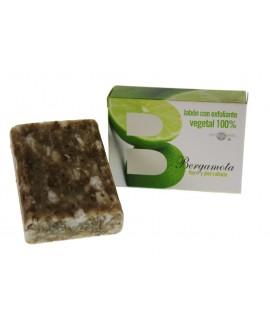 Jabón exfoliante 100% vegetal Bergamota