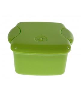 Carmanyola rígida infantil per a nens amb tapa i útils color verd