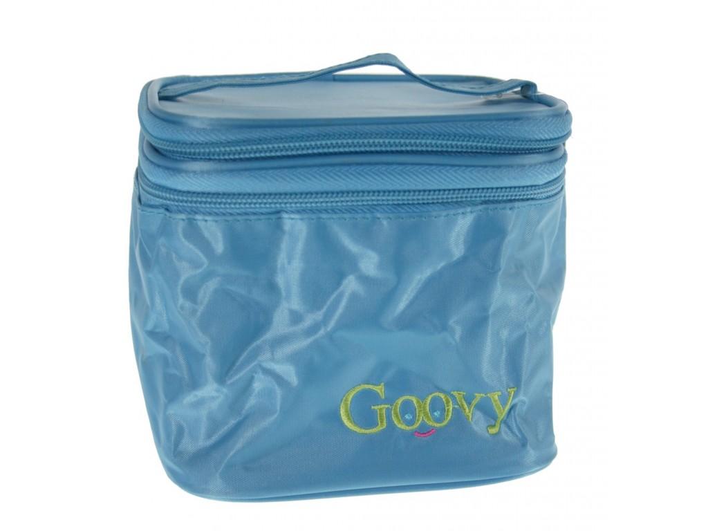 Fiambrera pequeña infantil isotérmica con compartimentos de color azul.