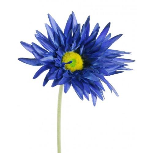 Gerbera Petales De Fleurs Artificielles Tissu Bleu Decoration A La