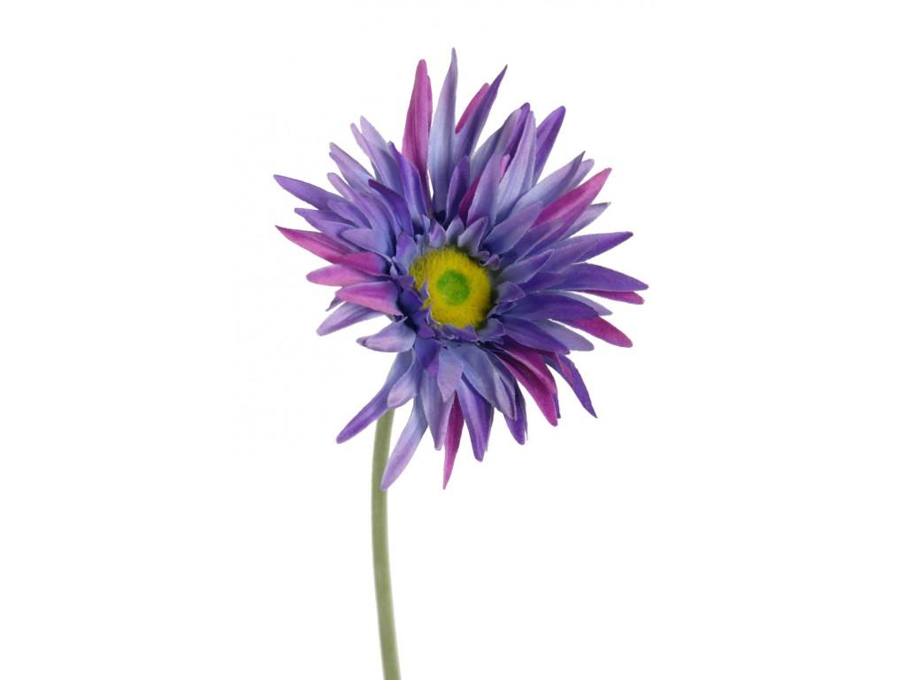 Gerbera Fleur Petales Lilas Decoration De Tissu Artificiel