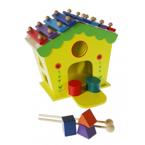 Maison xylophone en bois jeu musical favorise la motricit for Construction xylophone bois