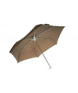 Paraguas pequeño plegable de lluvia para bolso señora color marrón apertura automática regalo para día de la madre y amiga