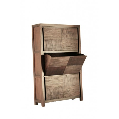 Compra online zapatero en madera de caoba oriental de for Mueble para guardar zapatos madera