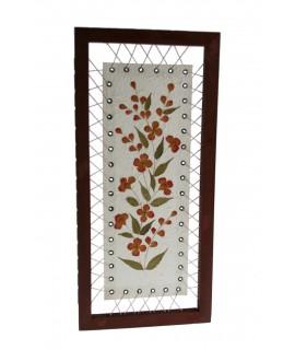 Cuadro Flores Secas en papel maché decoración hogar