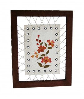 Photo de fleurs séchées en papier mâché décoration de la maison