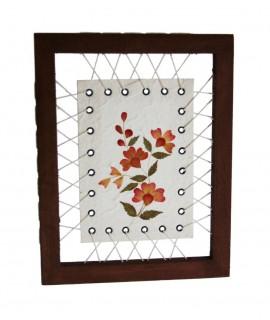 Quadre Flors Seques en paper maixé decoració llar